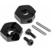 Hot Bodies Cyclone D4 Rear Hex Wheel Hub Set, Clamp Type (2)