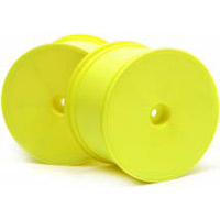 Hot Bodies Trophy Flux Truggy Dish Rims, Yellow (2)