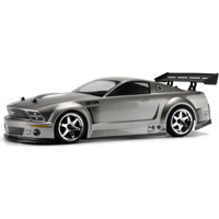 HPI Ford Mustang Gt-R Painted Sedan Body, Metallic Gunmetal
