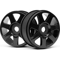 HPI Pulse 4.6/Vorza V7 Rims, Black (2)