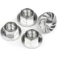 HPI Blitz Ese Serrated Flanged Lock Nuts, 4 x 10.8mm (4)