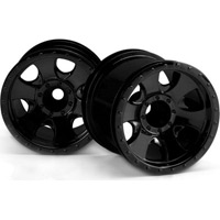 "HPI Savage XS 2.2"" Warlock Rims, Black (2)"