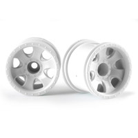 "HPI Savage XS 2.2"" Warlock Rims, White (2)"