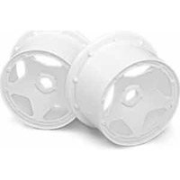 HPI Baja 5B Rear Super Star Rims, White (2)