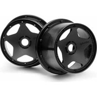 HPI Baja 5B Rear Super Star Rims, Black (2)