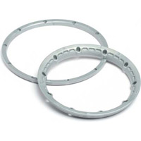 HPI Baja 5B Heavy Duty Beadlock Rings, Silver (4 Pieces)