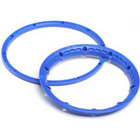 HPI Baja 5B Heavy Duty Beadlock Rings, Blue (4 Pieces)
