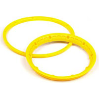 HPI Baja 5B Heavy Duty Beadlock Rings, Yellow (4 Pieces)