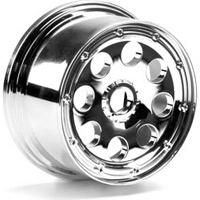 HPI Baja 5T Outlaw Rims-Chrome, 10mm Offset (2)