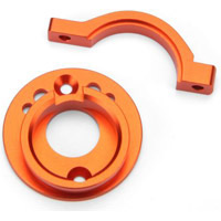 HPI Switch Motor Mount Set, Orange Aluminum