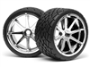 HPI Savage Phaltline Tires Mounted on Chrome Blast Rims (2)