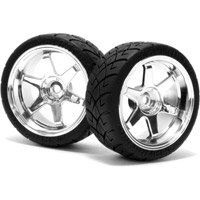 HPI Mounted X-Pattern Tires On Volk TE37 6mm Offset Rims (2)