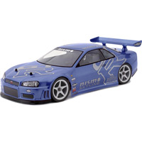 HPI Nissan Skyline R34 GTR Clear Body, 190mm-Requires Painting
