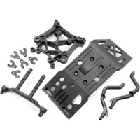 HPI Savage x 4.6 Shock Tower, Body Mount, Skid Plate Set