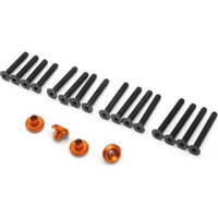 HPI Cup Racer Washers, Orange Aluminum (4) With Screws (16)