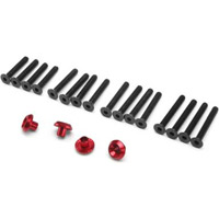 HPI Cup Racer Washers, Red Aluminum (4) With Screws (16)