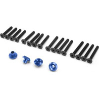 HPI Cup Racer Washers, Blue Aluminum (4) With Screws (16)