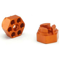 HPI Cup Racer 0mm Offset Hex Hubs, Orange Aluminum (2)