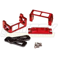 Integy 1/16 Slash Servo Guard, Red Aluminum