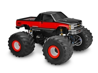 J Concepts 1988 Chevy Silverado Clear Monster Truck Body, requires painting