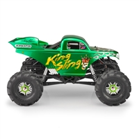 J Concepts King Sling Mega Truck clear body, w/ Scoop and Spoiler