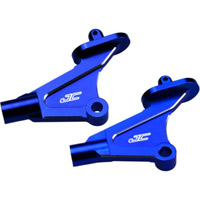 J Concepts RB6 Wing/RT6 Rear Body Mounts, Blue Aluminum