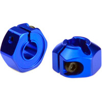 J Concepts XB4 12mm Rear Hex Hubs, Clamping, Blue Aluminum (2)