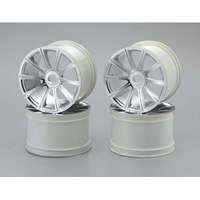 Kyosho ST-R Ten Spoke Wheel Set, Chrome (4)