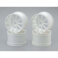 Kyosho ST-R Ten Spoke Wheel Set, White (4)