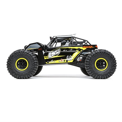 Losi 1/10th 4wd Rock Rey RTR with AVC and yellow body