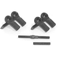Losi XXX-SCT/XXX-SCB Short Ball Cups (4) And Threaded Rods (2)
