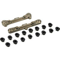 Losi 8B/8T 2.0/3.0 LRC Adjustable Rear Hinge Pin Braces with inserts