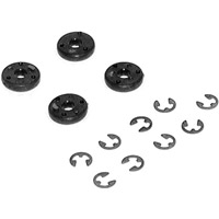 Losi #57 Teflon Shock Pistons, Black Color With E-Clips (4)