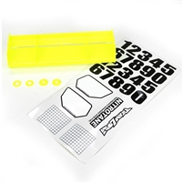 Losi 8ight/8ight-T/8ight 4.0 RTR Universal Wing Kit, yellow