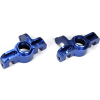 Losi 5ive-T Front Spindle Set, Blue Aluminum (2)