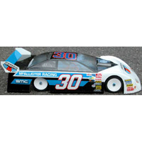 McAllister Knoxville Late Model Dirt Oval Clear 210mm Body, requires painting