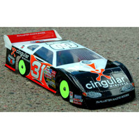 McAllister Tucson Late Model Dirt Oval Clear Body-200mm, requires painting