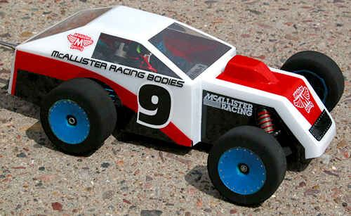 McAllister 1/18th Mini Modified Dirt Oval Clear Body, requires painting