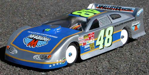 McAllister Terra Haute Late Model Dirt Oval Clear Body-200mm, requires  painting