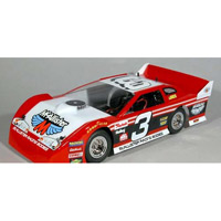 McAllister Batesville 1/18th Late Model Clear Body, requires painting
