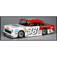 McAllister 1955 Chevy Bomber Body for 1/16th Traxxas and Losi Mini-Late Model, requires painting
