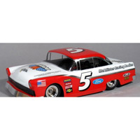 McAllister 1/16th 1956 Ford Bomber Clear Body for 1/16th Traxxas and Losi Mini-Late Model, requires painting