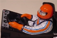 McAllister Sprint Car Driver Interior Clear Figure, requires painting