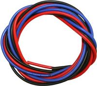Novak 16 Gauge Silicone Power Wire- 3 Feet Each Of Black/Red/Blue