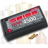 Orion Carbon Pro 4500mAh Ultra 7.4v 2S Shorty Lipo Battery Pack with 5mm tubes