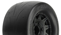 "Pro-Line Prime 2.8"" Tires Mounted on Black Raid Rims (2)"