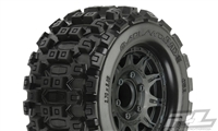 "Pro-Line Badlands MX28 2.8"" All Terrain Tires on Raid Black 6x30 Removable Hex Wheels (2)"