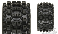 "Pro-Line Stampede 4x4 Badlands MX28 Traxxas Bead 2.8"" Truck Tires on Black F11 Rims (2)"