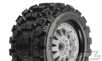 "Pro-Line MX28 2.8"" All Terrain Tires Mounted on F-11 Stone Gray Rims (2)"