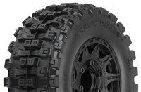 "Pro-Line Badlands MX28 HP 2.8"" BELTED Truck Tires on Raid Black 6x30 12mm Hex Wheels (2)"